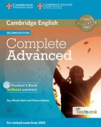 Complete Advanced. Students Book without Answers + Testbank ( CD) - okładka podręcznika