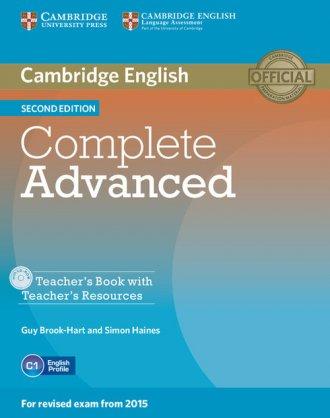 Complete Advanced. Teachers Book - okładka podręcznika