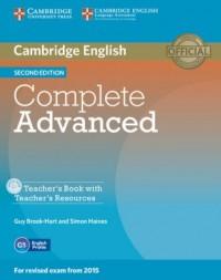 Complete Advanced. Teachers Book (+ CD) - okładka podręcznika