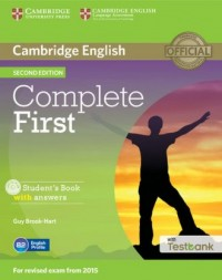 Complete First. Students Book with Answers with Testbank (+ CD) - okładka podręcznika