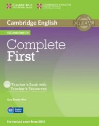 Complete First. Teachers Book with Teachers Resources (+ CD) - okładka podręcznika