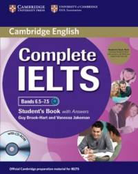 Complete IELTS Bands 6.5-7.5 Students Book with answers with CD-ROM - okładka podręcznika