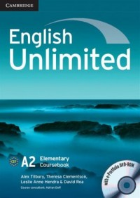 English Unlimited. Elementary Coursebook with e-Portfolio (DVD-ROM) - okładka podręcznika