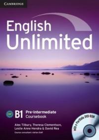English Unlimited. Pre-intermediate Coursebook (+ DVD) - okładka podręcznika