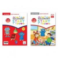 Kolorowy start. Język angielski. Nauczanie przedszkolne. Karty pracy + Wyprawka - okładka podręcznika