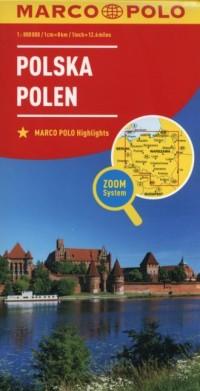 Polska Polen (skala 1:800 000) - okładka książki