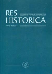 Res Historica. Tom 40 (2015) - okładka książki