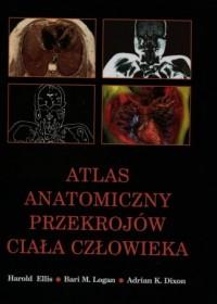 Atlas anatomiczny przekrojów ciała człowieka - okładka książki
