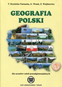 Geografia Polski. Szkoła ponadgimnazjalna. Podręcznik - okładka podręcznika