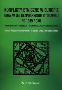 Konflikty etniczne w Europie oraz w jej bezpośrednim otoczeniu po 1989 roku. Uwarunkowania - stan obecny - wyzwania dla polityki - okładka książki