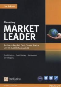Market Leader. Elementary Flexi Course Book 1 (+ CD DVD) - okładka podręcznika