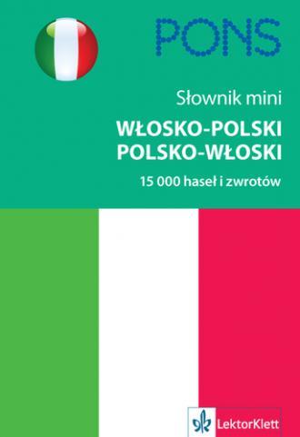 Słownik mini włosko-polski, polsko-włoski. - okładka podręcznika