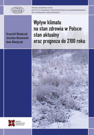 Wpływ klimatu na stan zdrowia w - okładka książki