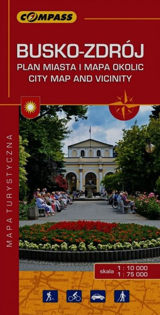 Busko-Zdrój Plan miasta i mapa - okładka książki