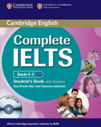 Complete IELTS Bands 4-5. Students Book with answers with CD-ROM - okładka podręcznika