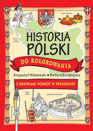 Historia Polski do kolorowania. - okładka książki