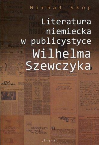Literatura niemiecka w publicystyce - okładka książki
