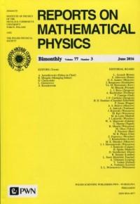 Reports on Mathematical Physics 77/3 2016. Kraj - okładka książki