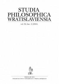 Studia Philosophica Wratislaviensia Vol. XI, fasc. 2 (2016) - okładka książki