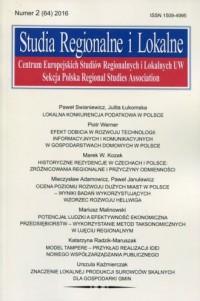 Studia Regionalne i Lokalne 2/2016 - okładka książki