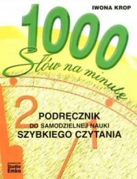1000 słów na minutę - okładka książki
