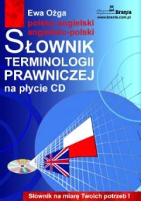 Słownik terminologii prawniczej. Polsko-angielski angielsko-polski (CD mp3) - okładka książki