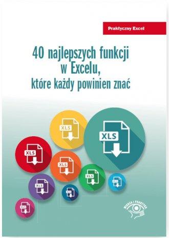 40 najlepszych funkcji w Excelu - okładka książki