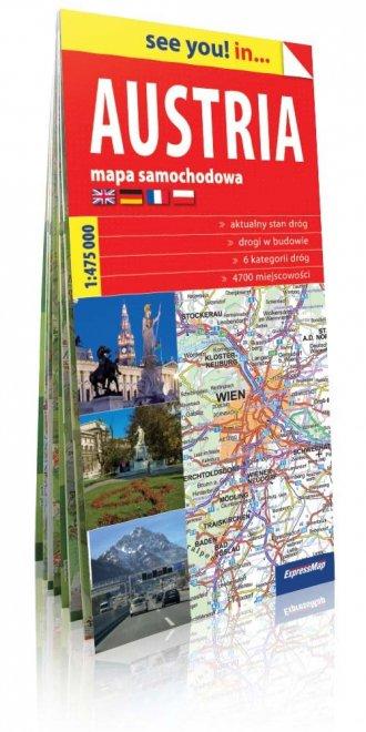 Austria see you! in...  mapa samochodowa - okładka książki