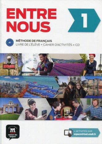Entre nous 1. Podręcznik z ćwiczeniami - okładka podręcznika