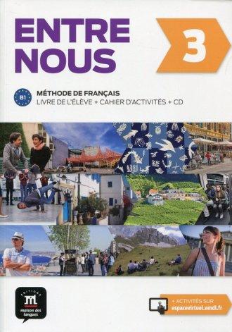 Entre nous 3. Podręcznik z ćwiczeniami - okładka podręcznika