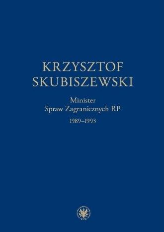 Krzysztof Skubiszewski. Minister - okładka książki