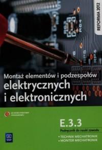 Montaż elementów i podzespołów - okładka podręcznika