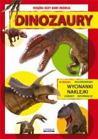 Dinozaury. Kolorowanki, wycinanki, naklejki, zabawy, informacje - okładka książki