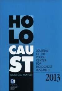 Holocaust. Studies and Materials 2013 - okładka książki