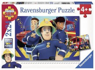 Strażak Sam (puzzle 2 x 24-elem.) - zdjęcie zabawki, gry