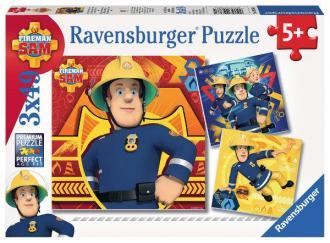 Strażak Sam (puzzle 3 x 49 -elem.) - zdjęcie zabawki, gry