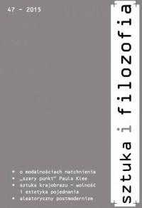 Sztuka i filozofia nr 47/2015 - okładka książki