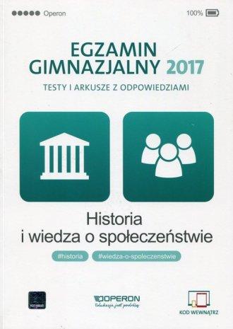 Egzamin gimnazjalny 2017. Historia - okładka podręcznika