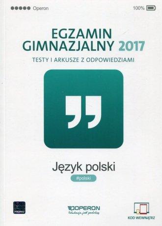 Egzamin gimnazjalny 2017. Język - okładka podręcznika