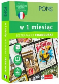 Francuski w 1 miesiąc z 3 tablicami - okładka podręcznika
