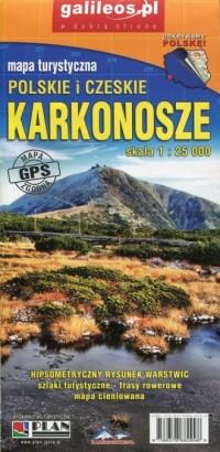 Karkonosze Polskie i Czeskie mapa - okładka książki