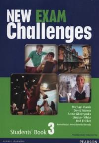 New Exam Challenges 3. Gimnazjum. Podręcznik wieloletni (+ CD) - okładka podręcznika
