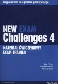 New Exam Challenges 4. Exam Trainer. Gimnazjum. Materiał ćwiczeniowy (+ CD) - okładka podręcznika