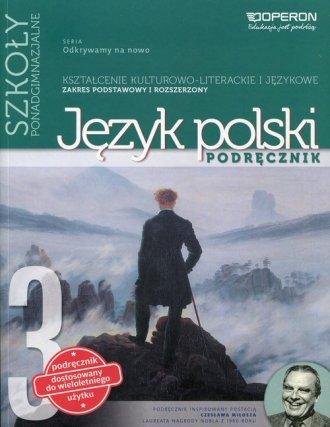 Odkrywamy na nowo 3. Język polski. - okładka podręcznika