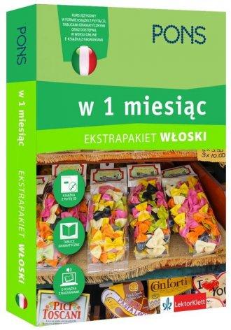 Włoski w 1 miesiąc z 3 tablicami - okładka podręcznika