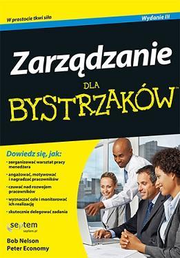Zarządzanie dla bystrzaków - okładka książki