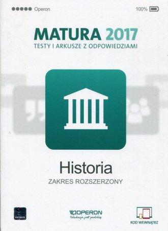 Historia. Matura 2017. Testy i - okładka podręcznika