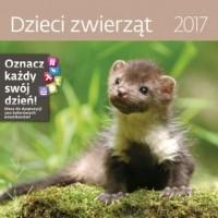 Kalendarz 2017. Dzieci zwierząt - okładka książki