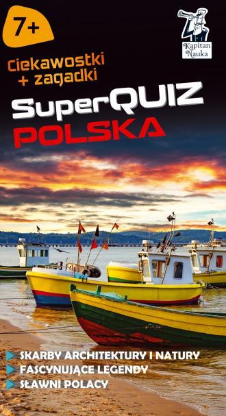 Kapitan Nauka. SuperQuiz. Polska - okładka książki