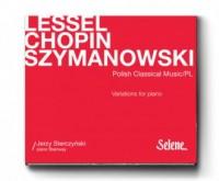 Lessel, Chopin, Szymanowski. Wariacje na fortepian - piano recital - okładka płyty